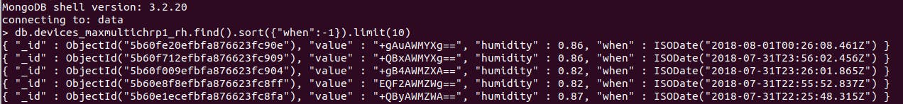 base64 encoded data from the Sensor Hub
