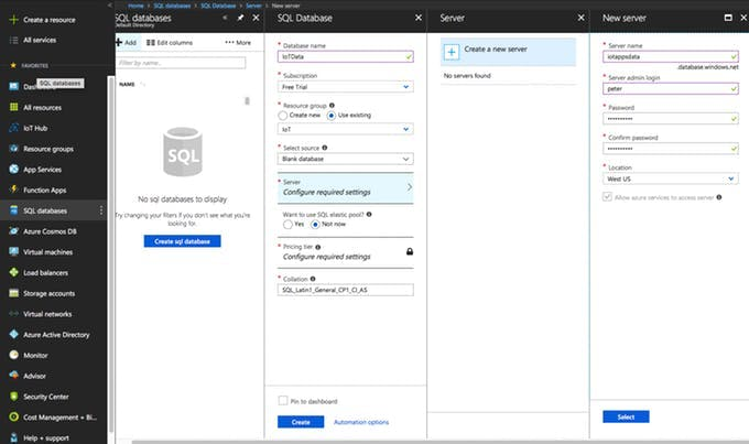 Creating Azure SQL Database