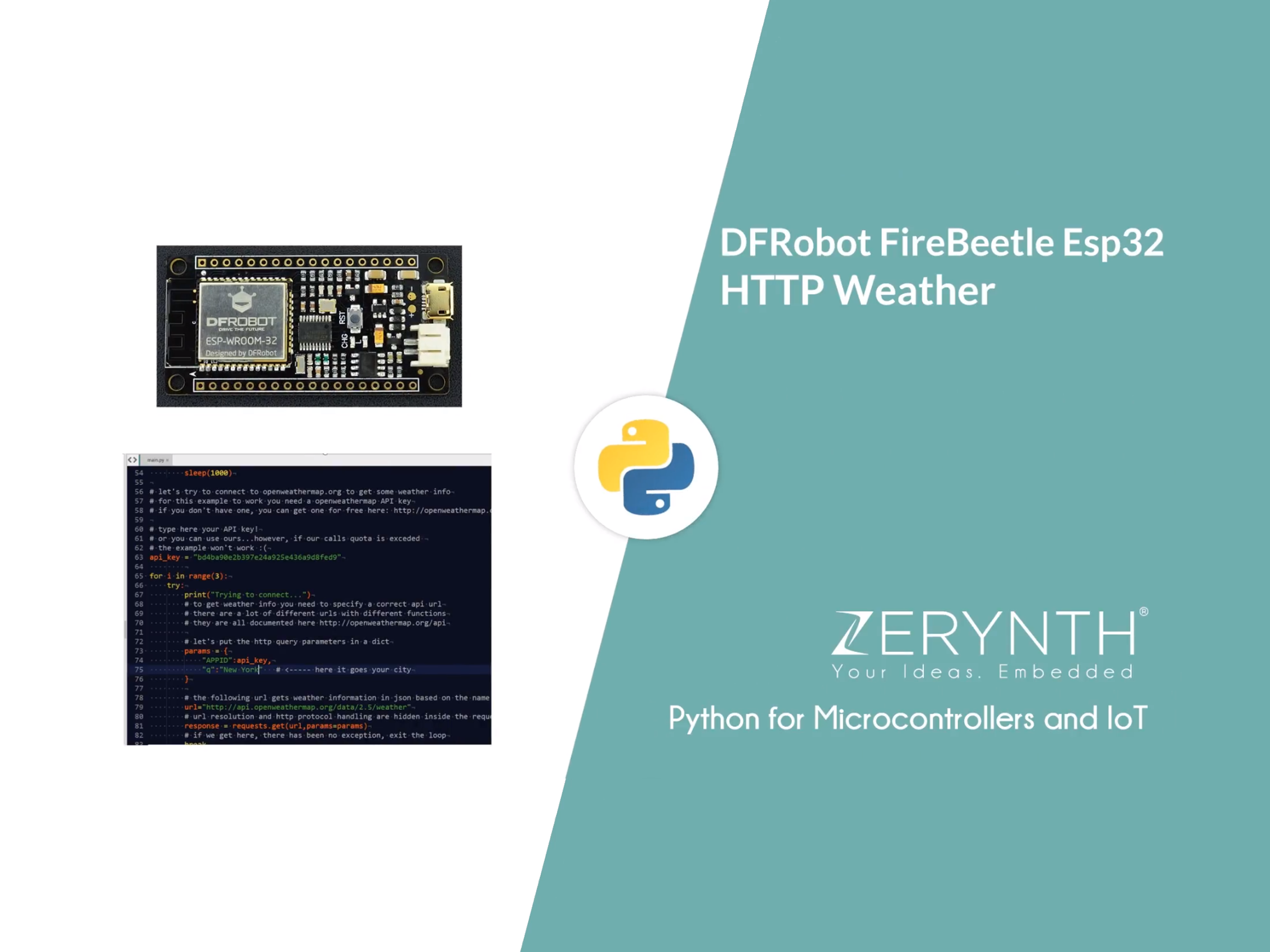 Make an HTTP request to get weather info with Zerynth