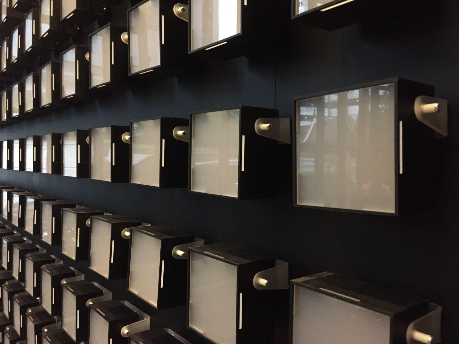 LED boxes in close detail