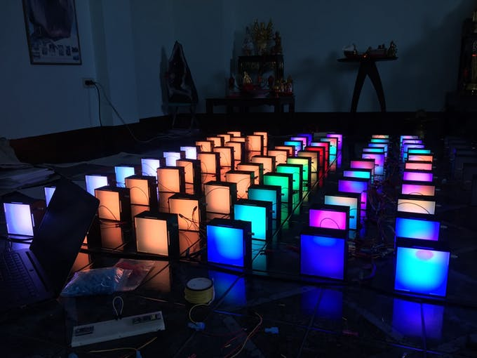 LED boxes testing at home