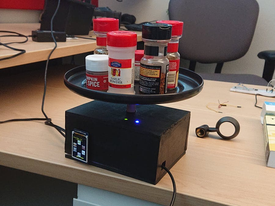 Voice Controlled Spice Rack