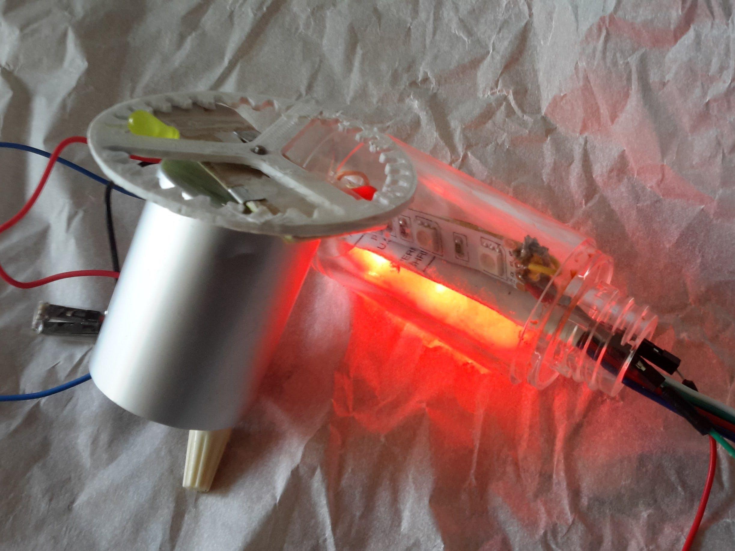 Tilt Activated Spinning Fan Light Stick