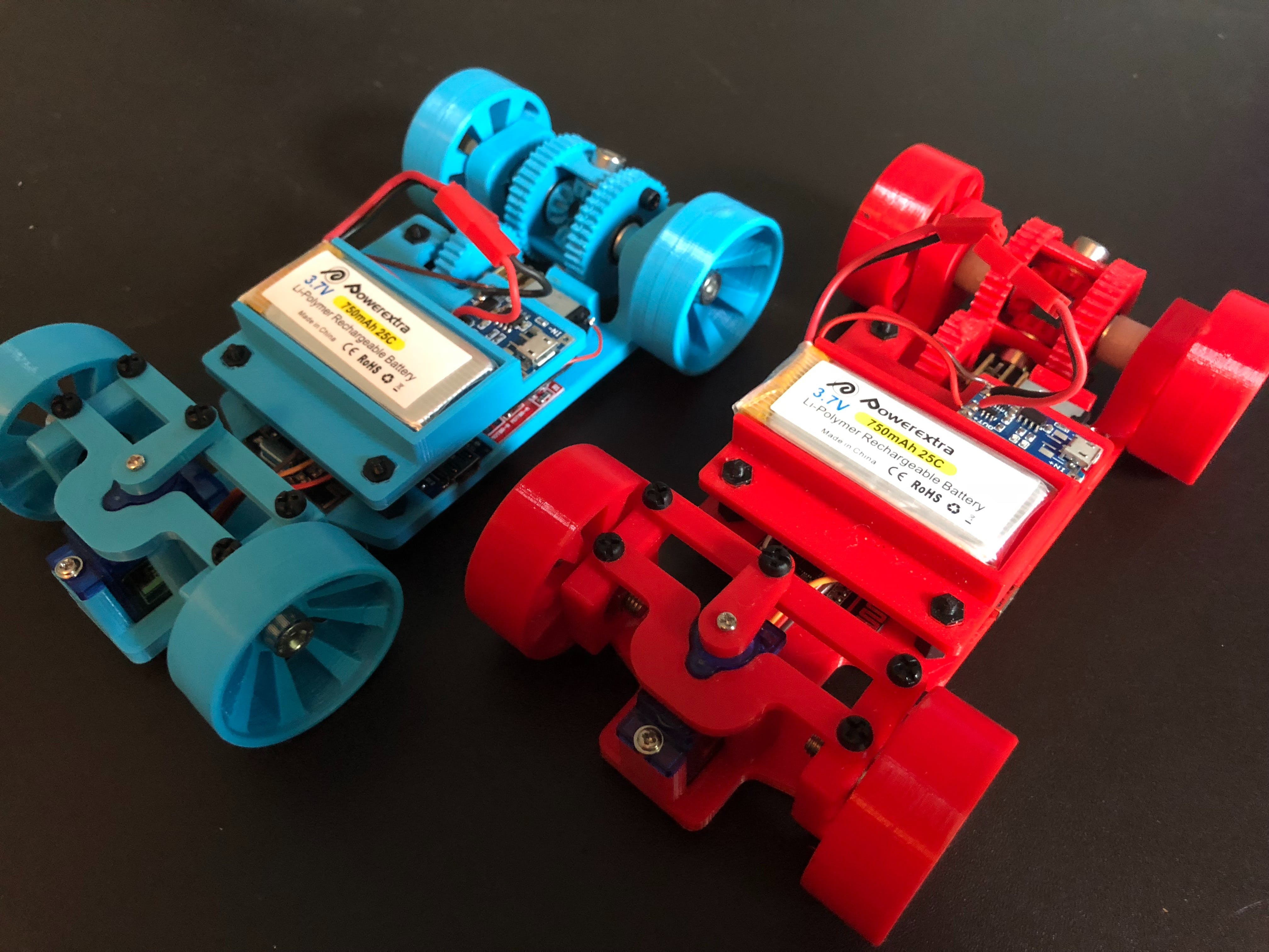 Walabot and Mobile App Controlled 3D-Printed Cars