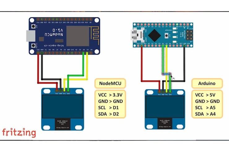 I2C OLED Display Using Arduino/NodeMCU - Hackster io