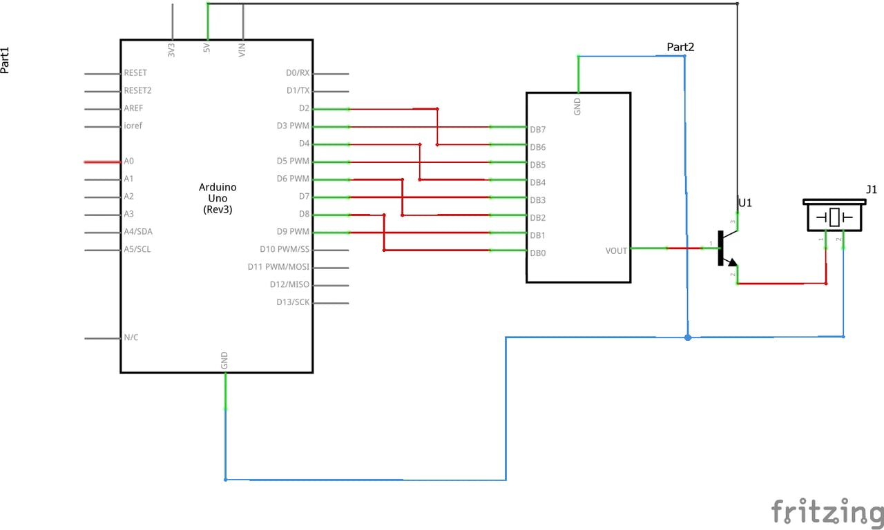 Generating Audio With An Arduino And A Resistor Ladder Dac R 2r Circuit Diagram