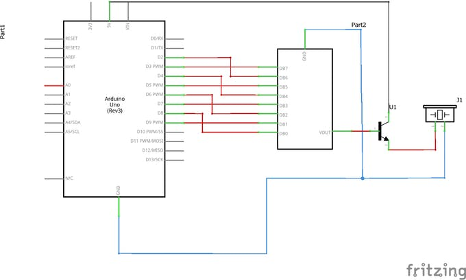 Generating Audio with an Arduino and a Resistor Ladder DAC