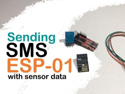 Send Text Messages Using ESP8266-01 with DHT11 Sensor Data
