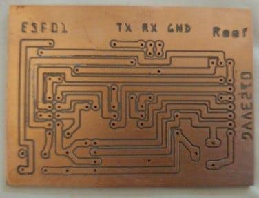 PCB ESP-01 programming board