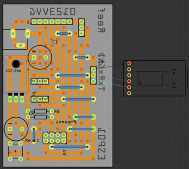 Fritzing ESP-01 programming board