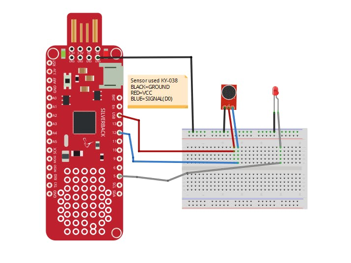 Sound Detection Using KY-038 Sensor and Surilli Basic M0