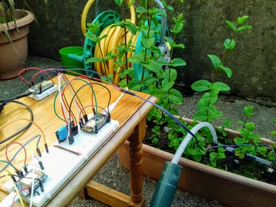 Python/MicroPython IoT Framework Example - Auto Irrigation