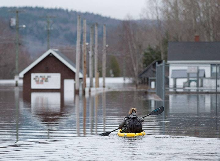 Picture taken from the May flooding in New Brunswick