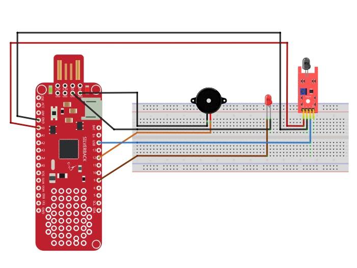 Fire Detection Using Flame Sensor and Surilli Basic M0