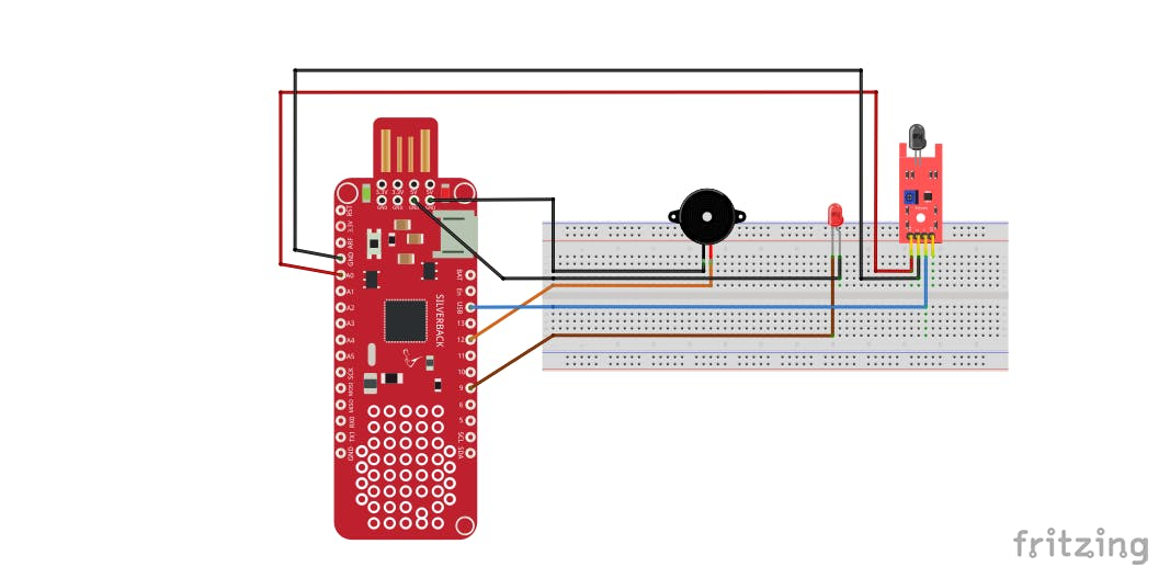 Fire Detection Using Flame Sensor and Surilli Basic M0 - Hackster io