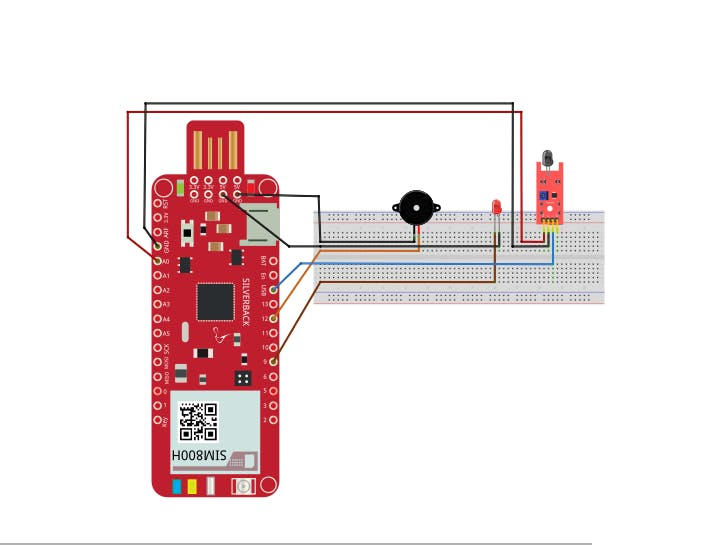 Fire Detection Using Flame Sensor and Surilli GSM