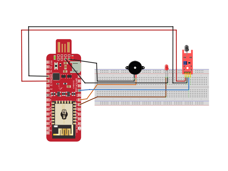 Fire Detection Using Flame Sensor and Surilli WiFi