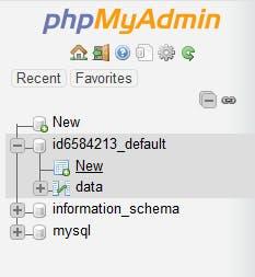 Sidebar in PhpMyAdmin