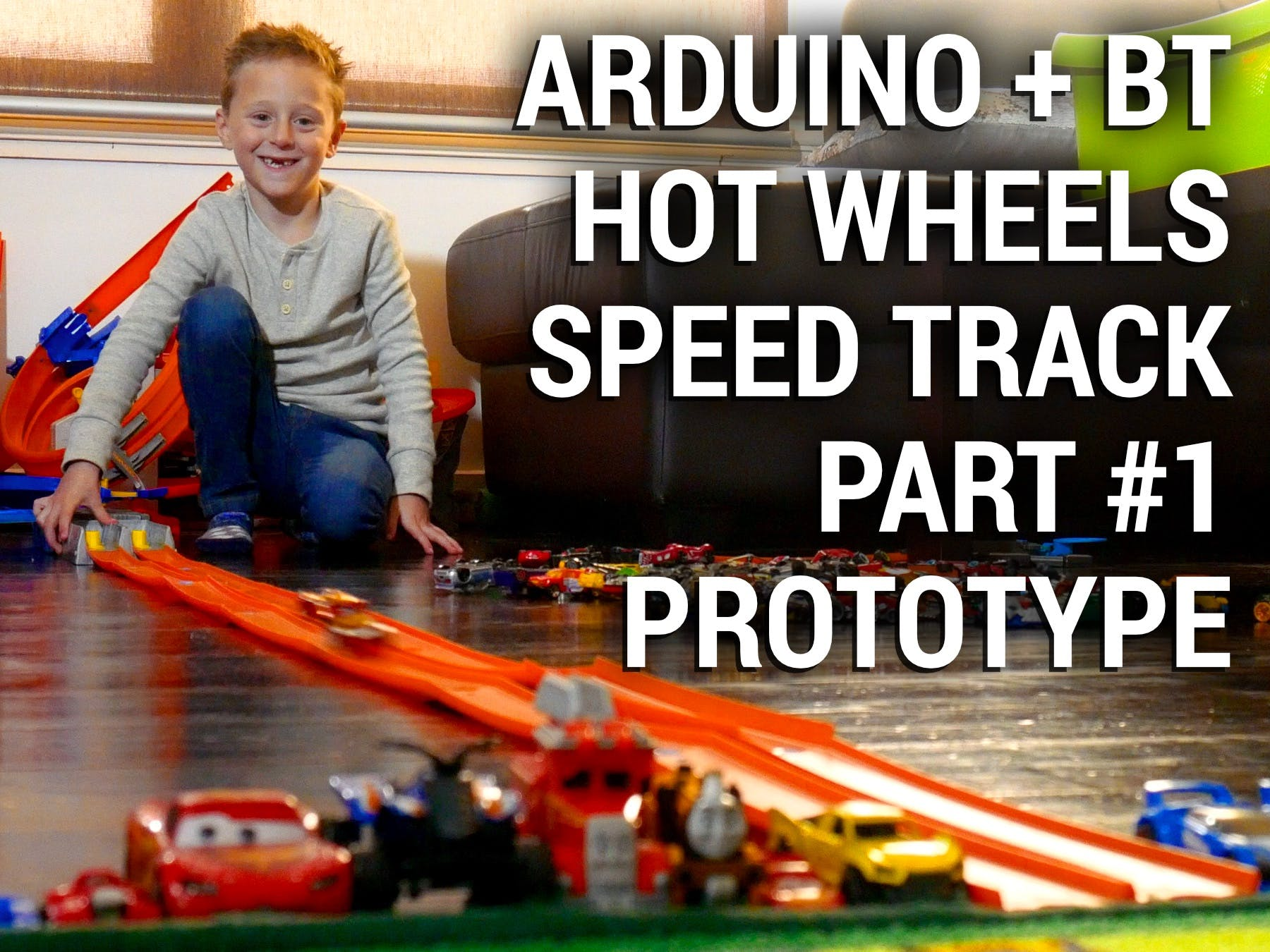 Arduino Hot Wheels Speed Track Part #1 - Prototype