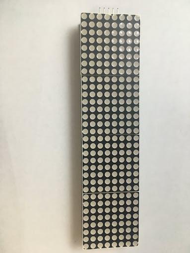 E. Knacro max7219 dot matrix (Front)
