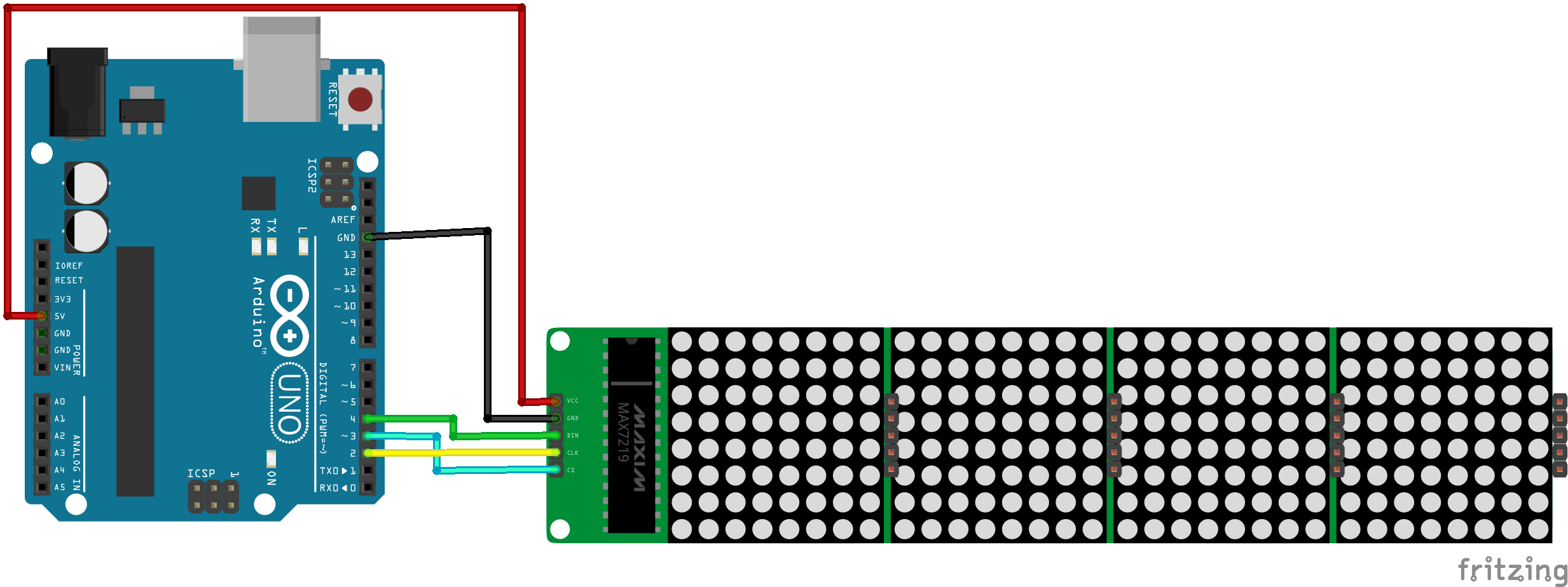 H. Diagram of connection of the module on the board.