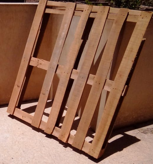 We would bring some used wood pallets.