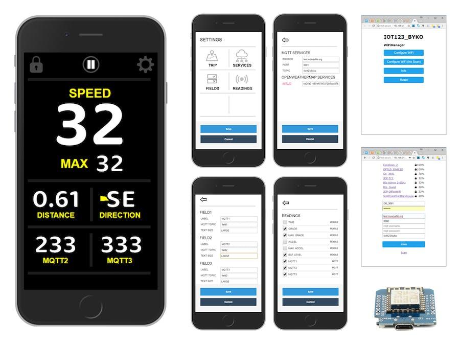 IOT123 - BYKO - Mashup Mobile Web for Cyclists