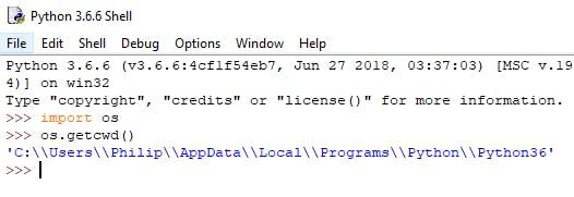 Python working directory