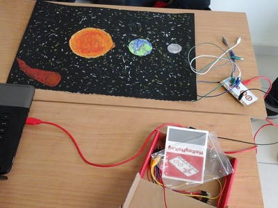 Makey Makey for Sun, Earth and Moon Project