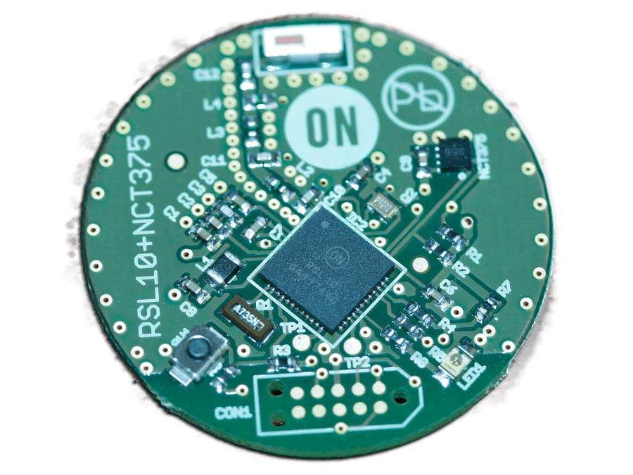 RSL10 Coin Board and NCT375 Temp Sensor