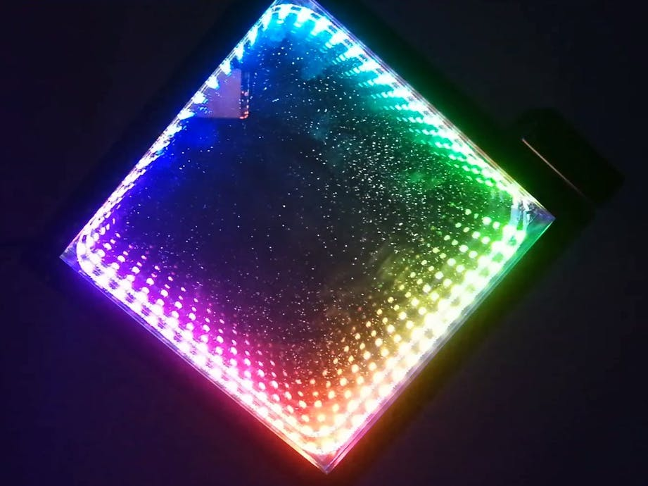 Infinity Mirror Wall Clock in IKEA Picture Frame - Hackster io