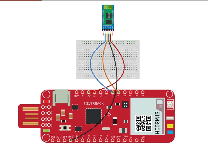 LED Blinking ON and OFF Using HC-05 and Surilli GSM