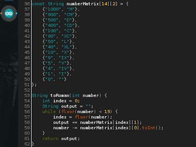 Roman Numeral Converter for Arduino