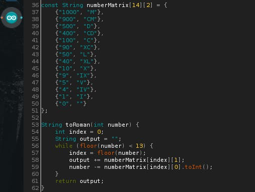 Roman Numeral Converter for Arduino - Arduino Project Hub