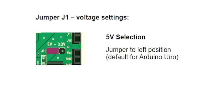 Jumper for voltage selection