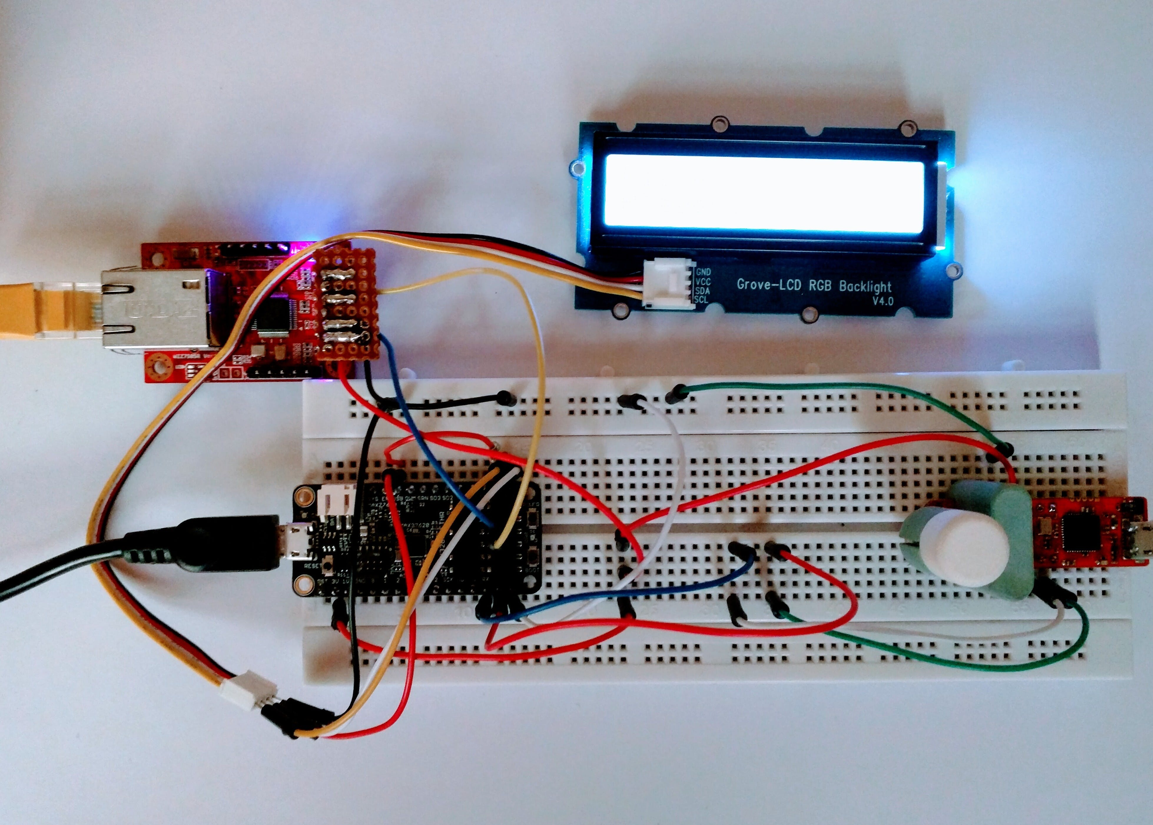 Digital scoreboard connected to Blynk using the WIZ750SR
