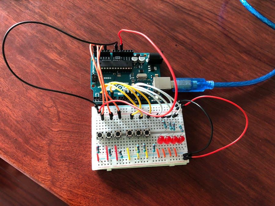 3-Bit Binary Calculator Using Arduino Uno
