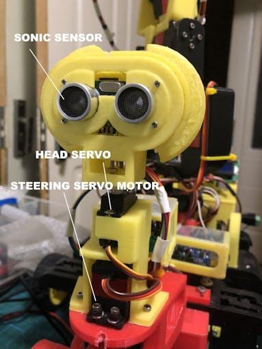 Roger Bot head assembly