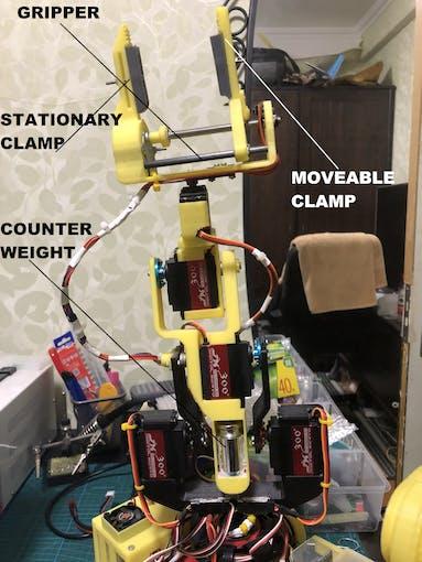 Roger Bot arm assembly