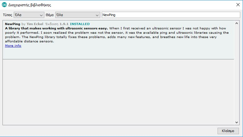 Just installed the NewPing library to Arduino IDE.