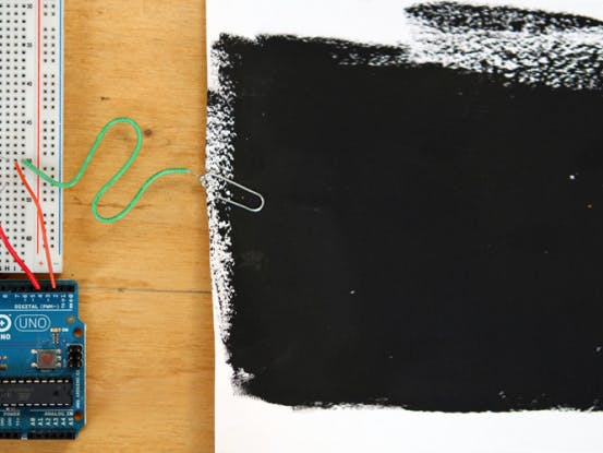 Building a Capacitive Proximity Sensor using Electric Paint