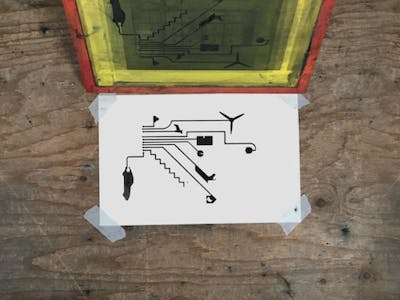 How to Screen Print with Electric Paint