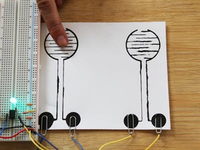 Making a Touch Sensitive Circuit with Electric Paint