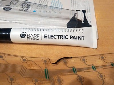 Electric Paint fixes Broken Keyboards