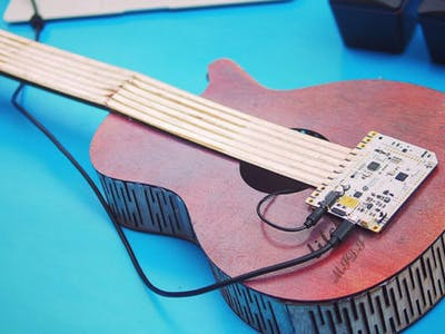 Making a Wooden MIDI Guitar with the Touch Board