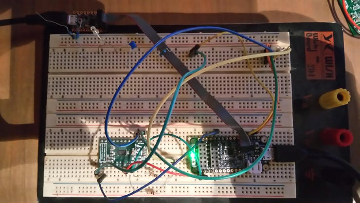 Initial State (Board resting on table).