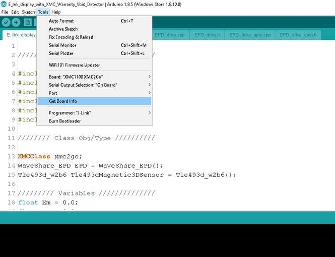 port setup and flashing code