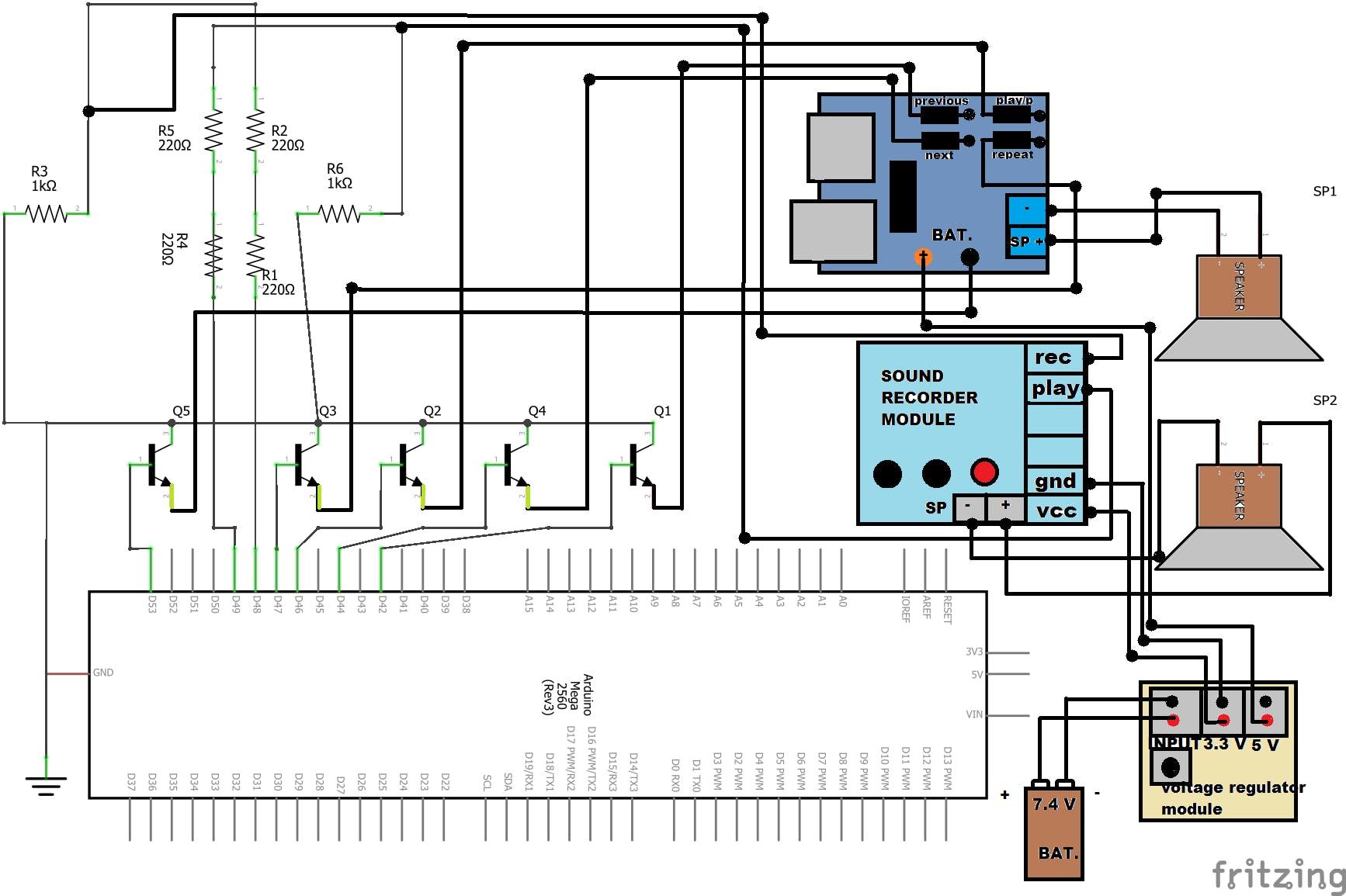Audio schematic diagram
