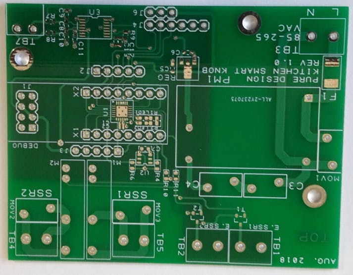 TOP PCB design of new board.