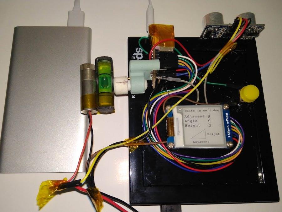 Trigonometric Height Measurement with 3D Magnetic Sensor